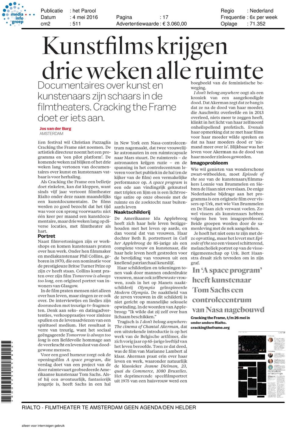 Parool article on CTFP - May 2016-page-001